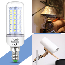 GU10 220V LED Bulb Light 2835 SMD Candle Lamp E14 Energy Saving Ampul LED E27 Corn Bulb 5W 7W 9W 12W 15W 18W 20W Led Lamps 5730 цена