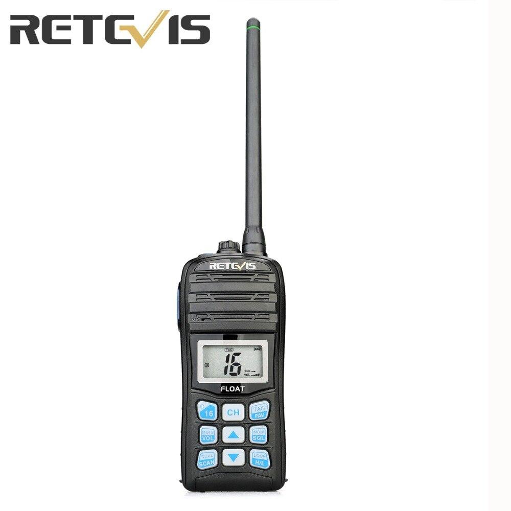 RETEVIS RT55 Professional VHF Marine Radio Float Walkie Talkie Waterproof Two-way Radio NOAA Weather Alert 5W Marine VHF Radio