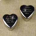 Personalised Engrave Heart Trinket Jewellery Box Ring Holder Xmas Wedding Gift