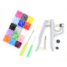 1Set Metal Press Pliers Tools Used for T3 T5 T8  Button Fastener Snap Pliers+150 Set Plastic Resin Stud Cloth Diaper