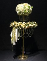 80cm Tall Crystal Table Centerpiece Gold Flower Stand Wedding Props