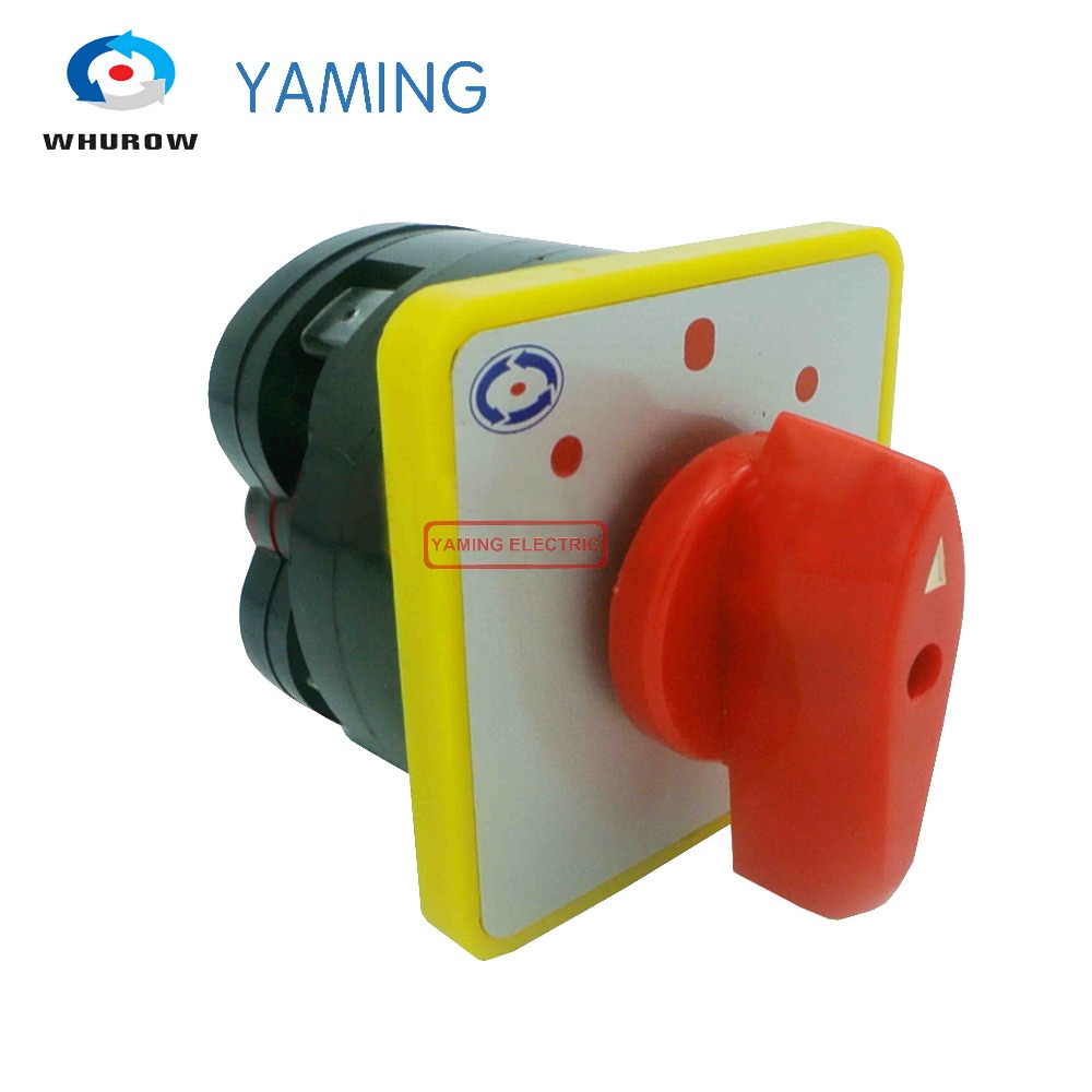 Yaming Electric 3 Position 1-0-2 4 Terminals 1 pole Latching Rotary Cam Changeover Switch 500V 16A LW5-16 D0082 rotary switch 3 positions lw6 2 b184 green changeover cam universal switch 380v 5a 2 pole 12 terminals sliver contacts