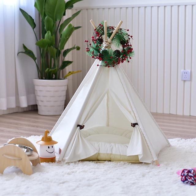 2017 Princess Dog Tent Pet Tent Breathable Dog House Kennel Cat Cushion Leopard Sofa Mat Summer Dog Cat Kennel House Pet Suppliy