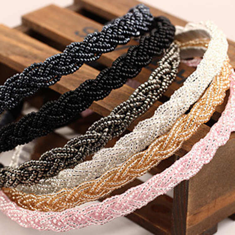 2018 Rushed Unisex Korean Beaded Headband Twist Fine Pearl Hair Accessories Wholesale Import Of New South Female Headdress