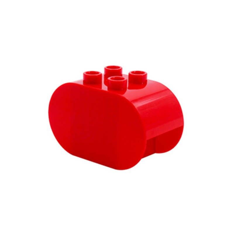 Diy bloques de construcción de gran tamaño accesorios columpios planta de escalera de árbol Compatible con juguetes Duploed para niños regalos