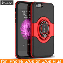 for iPhone 6 6s Plus Ring Case Magnetic Air Vent Holder Original iPaky Brand Luxury Kickstand Case for iPhone 6 6s Case