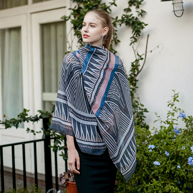 UACY Nouvelle mode femmes solide linge de couleur foulards avec dentelle  lady printemps automne mince soie écharpe châle wrap hijab haute qualit 69b7b9a7988