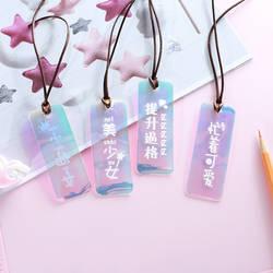Лазерный блеск закладки маленькая фея Kawaii прозрачный закладки из полихлорвинила для книжная бумага Файлы Организатор школьные