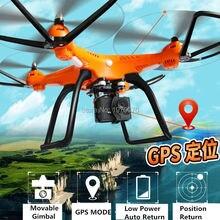 HuanQi 899C GPS Quadcopter Дрон вертолет обновленной H899 899B с 1080 P действие Камера подвижные Gimbal низкая мощность авто- Возврат