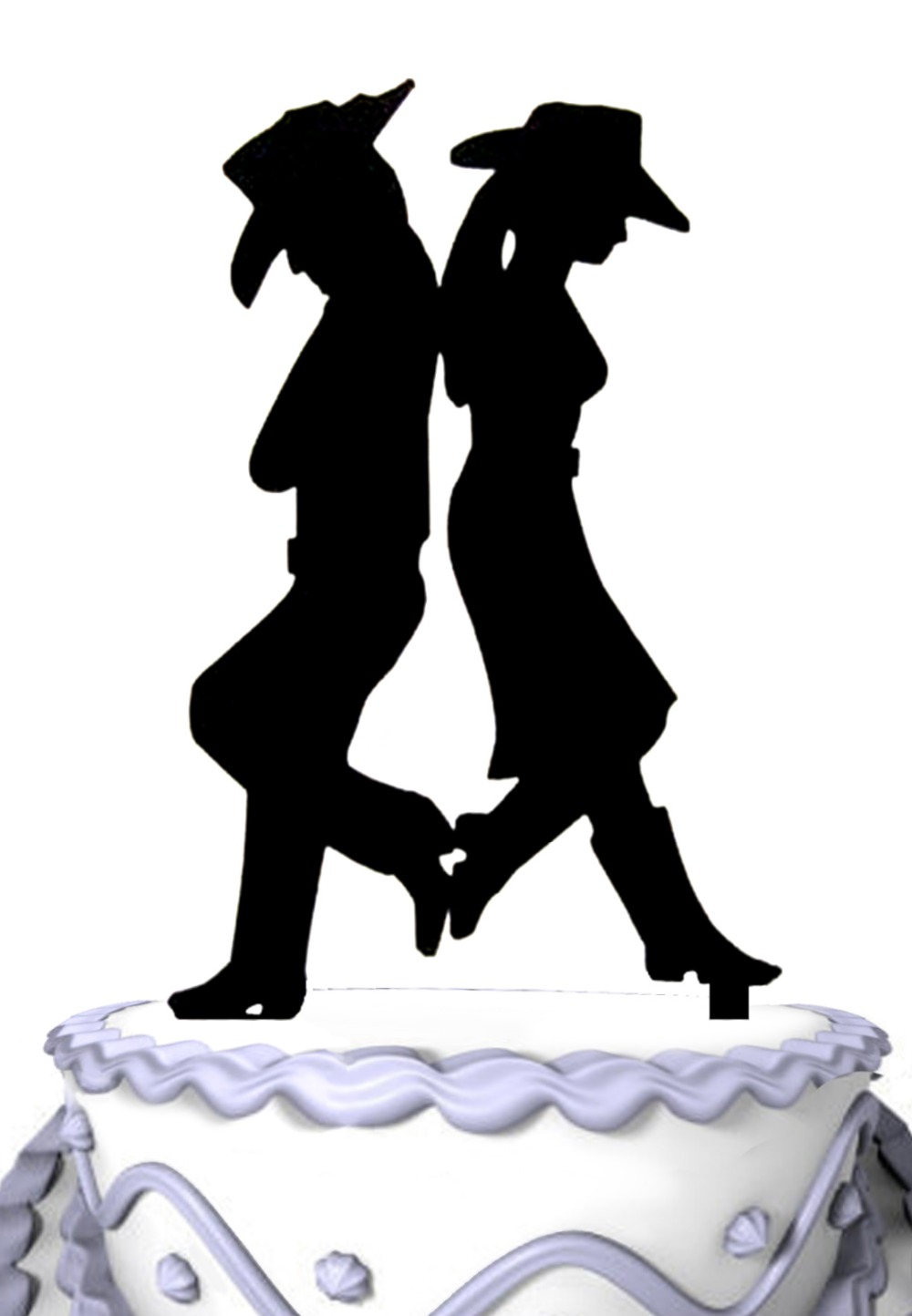 Groom And Bride Wedding Cake Topper Country and Western ...