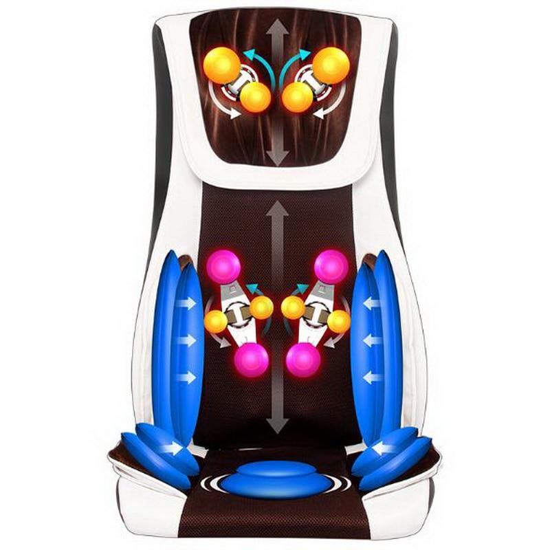 купить 111210/Electric back massager vibrator /cheap body shoulder Heating massage chair sofa machine Neck masage cushion chair дешево