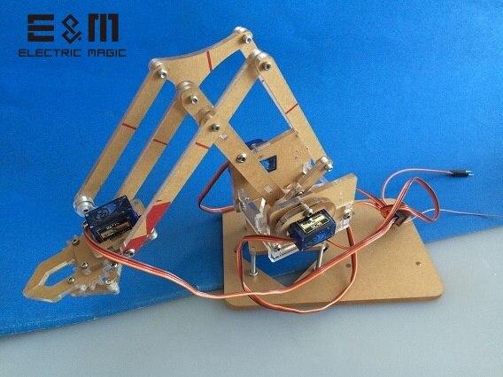 Bricolage 4 DOF Robot mécanique Mini bras support manipulateurs uArm avec Servo jouet Machine 4 axes 3D Rotation acrylique modèle