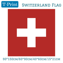 90*90cm/60*60cm/40*40cm/15*15cm Flying Flag High Quality Indoor Home Decoration Swiss Switzerland National Polyester