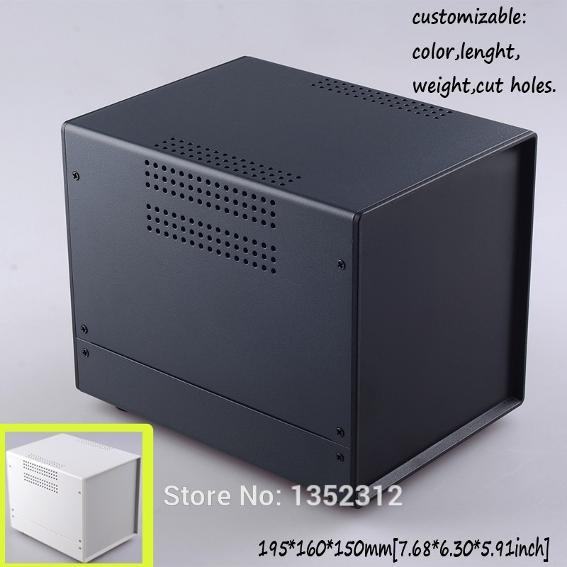 One pcs 195*160*150mm iron project box enclosure for electronics IRON housing electronic shocker junction box 1pcs 220x120x325mm new electronics project box pcb holder steel iron housing project case extrusion enclosure housing