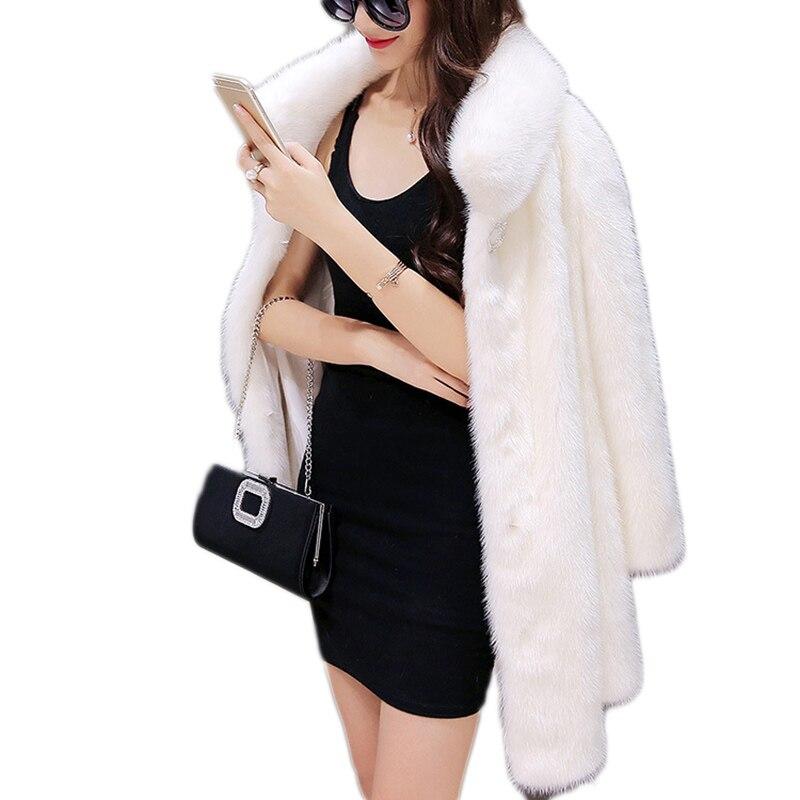 Manteau de fourrure femmes d'eau de Luxe de la fourrure de vison manteau en fausse fourrure veste femmes De Mode Chaud Épais D'hiver vison manteaux femmes