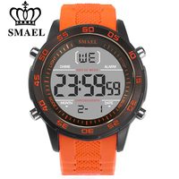 SMAEL Fashion Sport Watches Men Silicone Strap Brand Digital Watch Noctilucous Waterproof Luxury Watch Men S