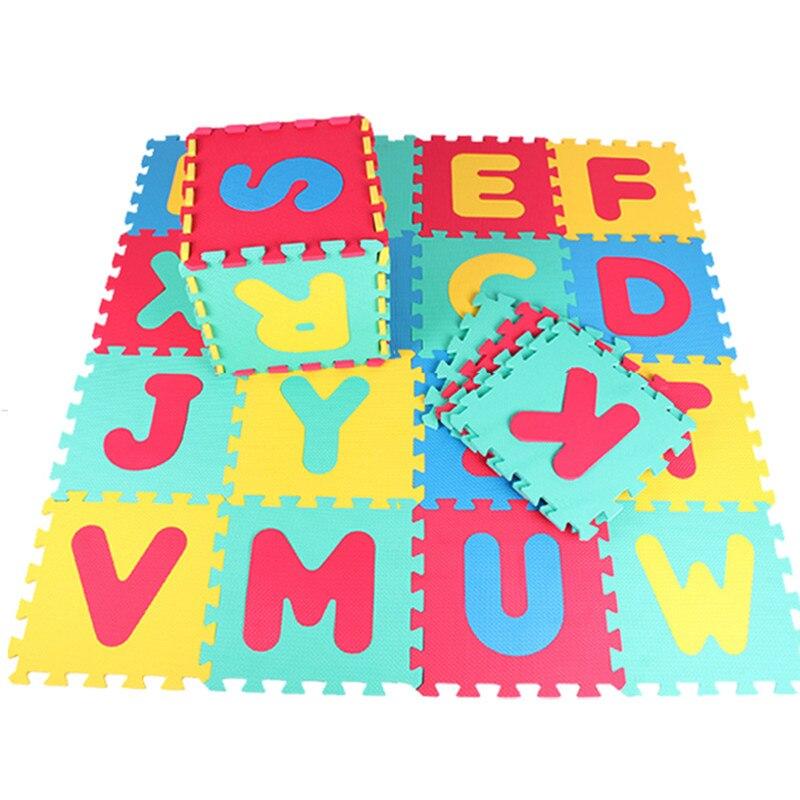 Offres spéciales numéro de mousse de haute qualité + lettres Alphabet ABC tapis de Puzzle de sol tapis enfants jeux de chambre tapis alfombras cadeaux - 3