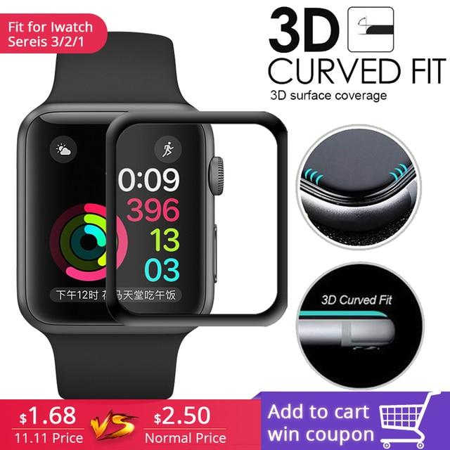 Темное стекло для apple watch series 3 2 1 все версии защищают 100% экран