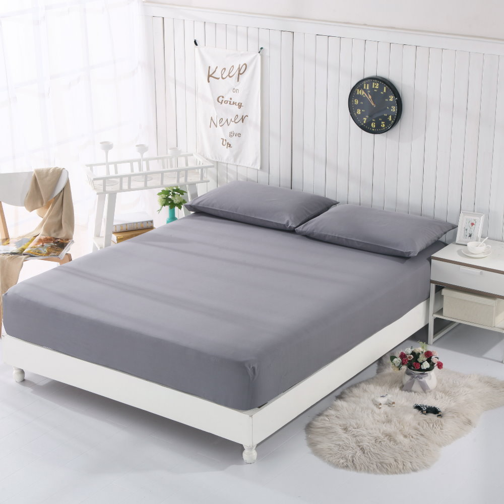 EARTHING fitted sheet (198x203cm) cotton silver Antimicrobial bed sheet Conductive With 2  pillow cases EMF protection