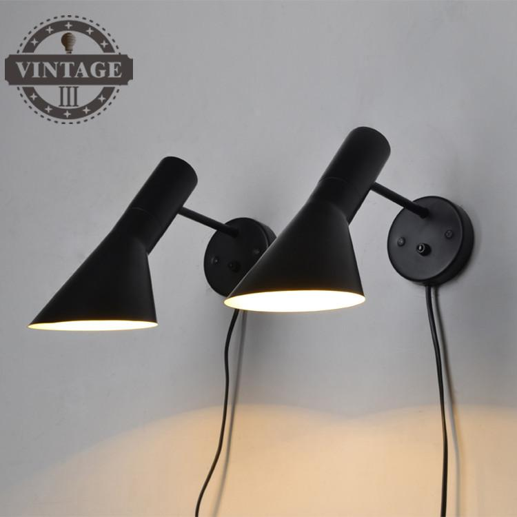 VintageIII Free Shipping Replica Modern Louis Poulsen Arne Jacobsen Wall lights Creative AJ Wall lamp Modern Sconce 1 Light legeartis replica b129 9x19 5x120 et48 d74 1 sf