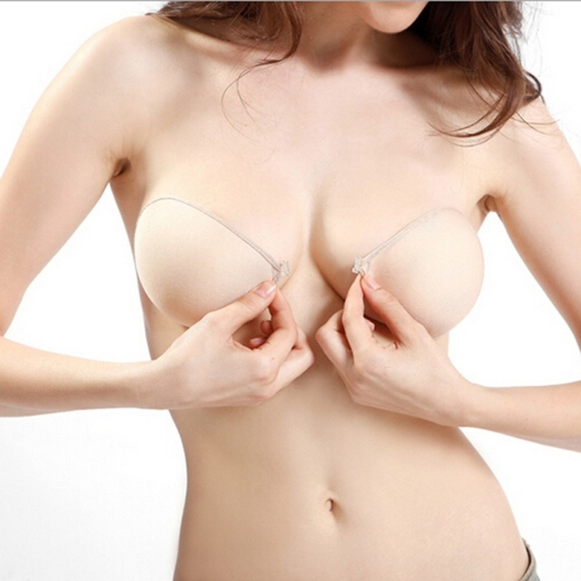 Sexy Women Cottton Silicone Bra Adhesive Sticky Breast Strapless Invisible Bras