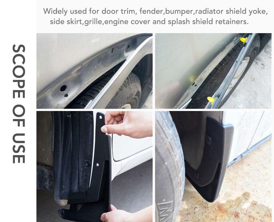 50pcs Auto Stoßstangen Tür Panel Druck in Nieten Clips Verschluss für BMW E53