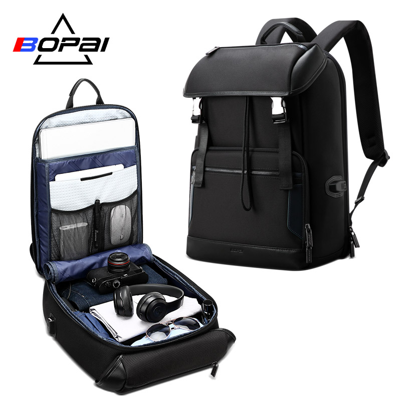 BOPAI Anti-theft Backpack Male Large Capacity Outdoor Portable 15.6 inch Laptop Fashion Casual Mens BackpackBOPAI Anti-theft Backpack Male Large Capacity Outdoor Portable 15.6 inch Laptop Fashion Casual Mens Backpack