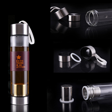 500ml Glass Water Bottle with Stainless Steel Cap