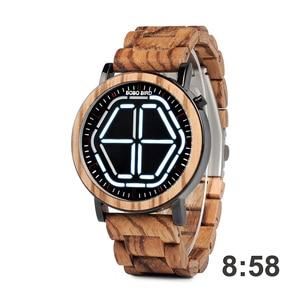Image 5 - BOBO BIRD LED Display Watch Men relogio masculino Night Vision Digital Mens Watches reloj hombre V P13