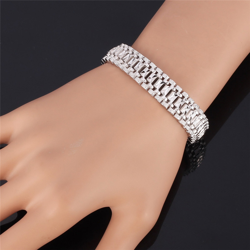 Bracelet For Men Women 18k Real Gold Plated Platinum High