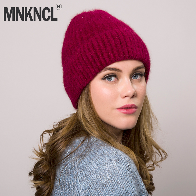 2018 New Knitted Wool   Beanies   Autumn winter hat for women fashion female ski   skullies     beanies   thick warm hat for girls