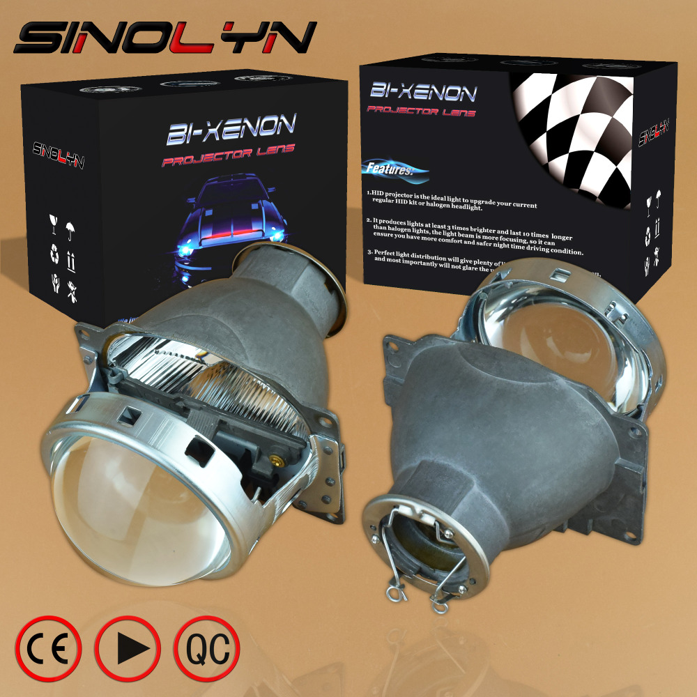 SINOLYN 3.0'' Q5 H7 D2S HID Xenon/Halogen/LED Headlight Bi-Xenon Projector Lens LHD RHD For Car Styling Headlamp Tuning Retrofit sinolyn 3 0 super hid bixenon lenses headlight car projector lens square u led angel eyes halo daytime running lights headlamp