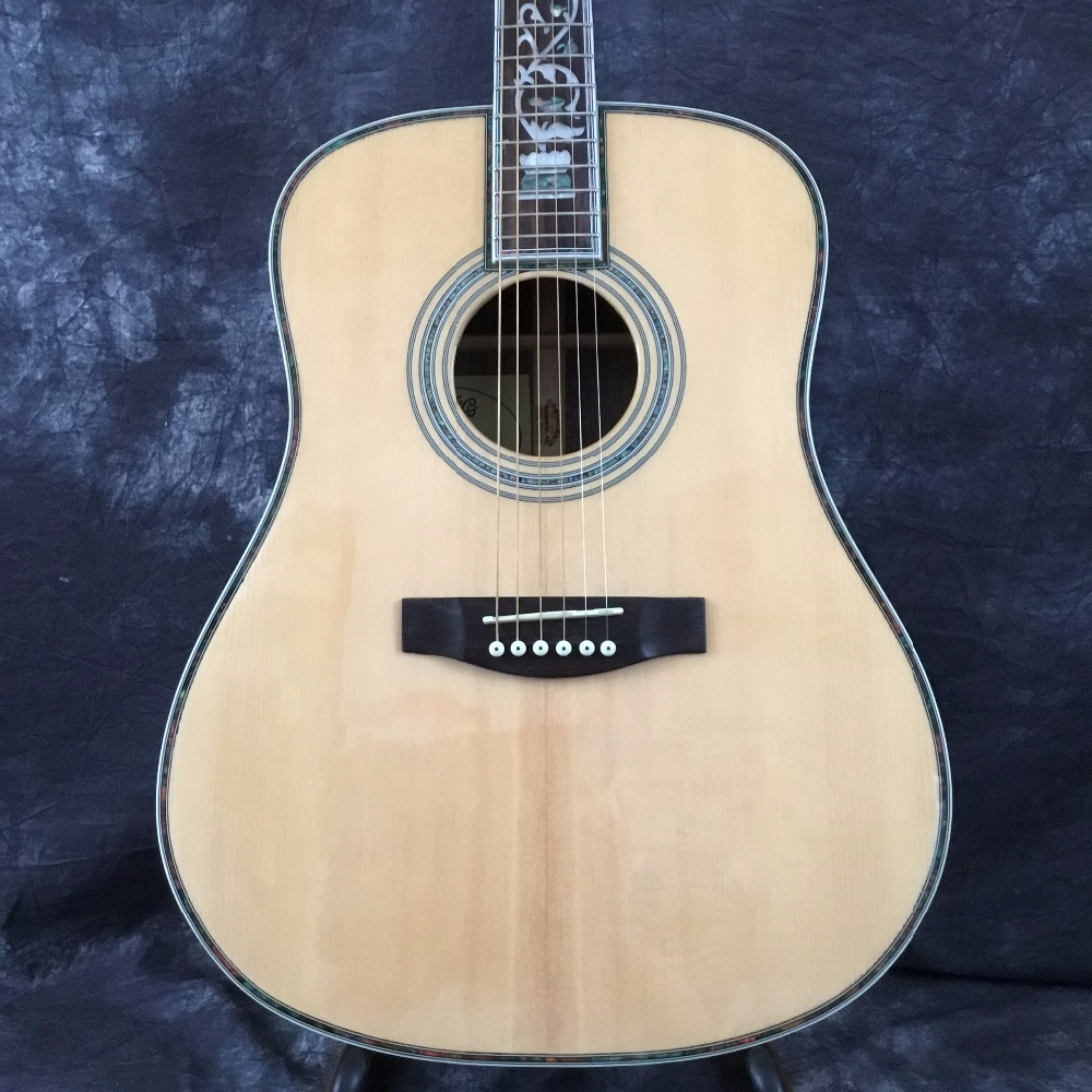 2018 New Factory + + deluxe acoustic guitar OEM electric guitar acoustic super deluxe abalone acoustic guitar free shipping
