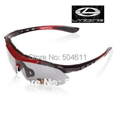 LVXING Cycling  Running Outdoor Sports Sunglasses Sport Glasses Exchangeable 5 Lenses Unbreakable Polarized UV400