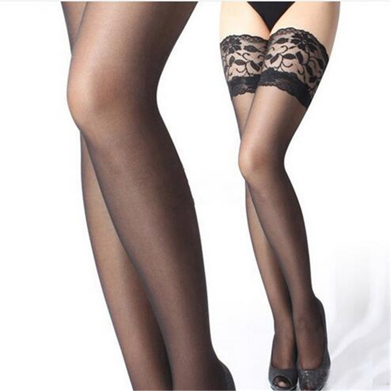 e9aa97abaa0 2017 Hot Sale Female sexy stocking appeal to fix the leg show thin lace  sexy stockings hose women Thigh high stockings