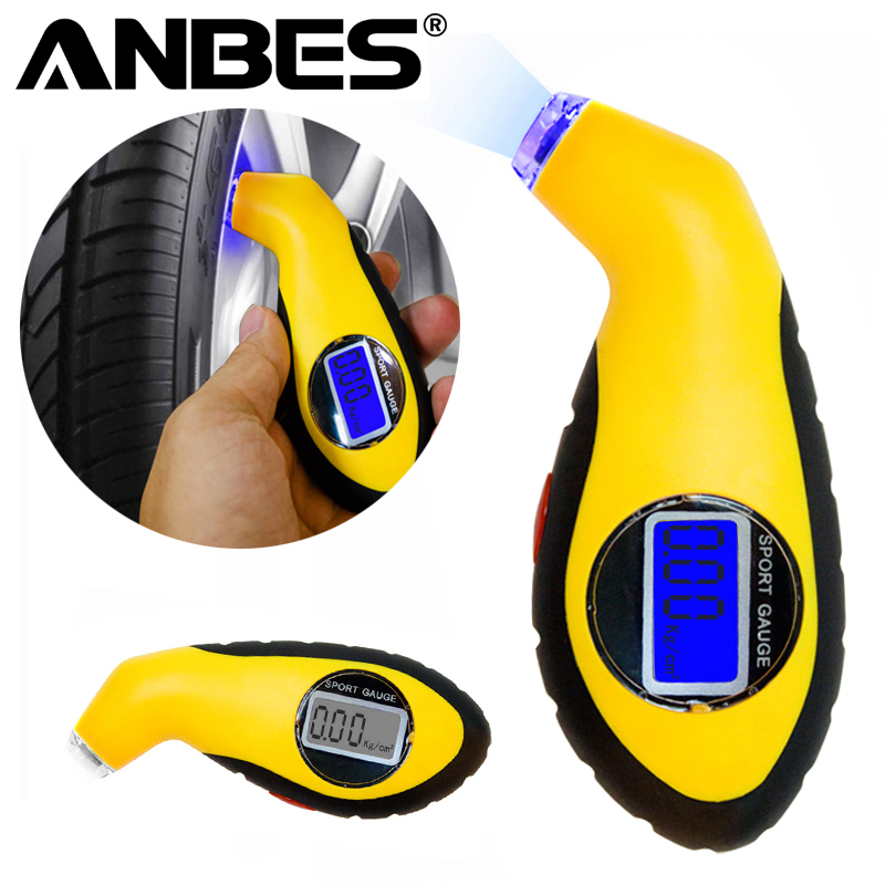 Anbes Diagnostic Tools tire pressure gauge Meter Manometer Barometers Tester Digital LCD Tyre Air For Auto Car Motorcycle Wheel dsycar metal car tire pressure gauge auto air pressure meter tester diagnostic tool for jeep bmw fiat vw ford audi honda toyota
