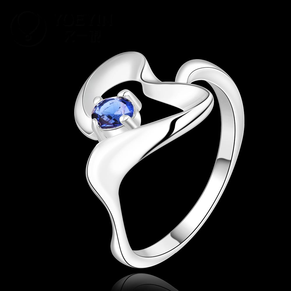 2016 SALE joias silver plated heart lover sapphire crystal women Jewelry retail Engagement ring aneiss