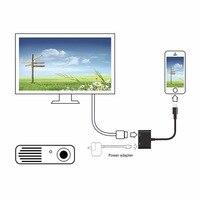 for Lighting to AV HDMI/HDTV TV Digital Converter For Lightning AV Digital Adapter to HDMI Mirror For iPhone 8 8plus X 7 Plus