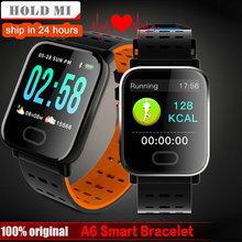 821ad8cf692 A6 Smart watch Heart Rate Monitor Blood Pressure Measure Sport Waterproof  SmartWatch Wrist Fitness Tracker for