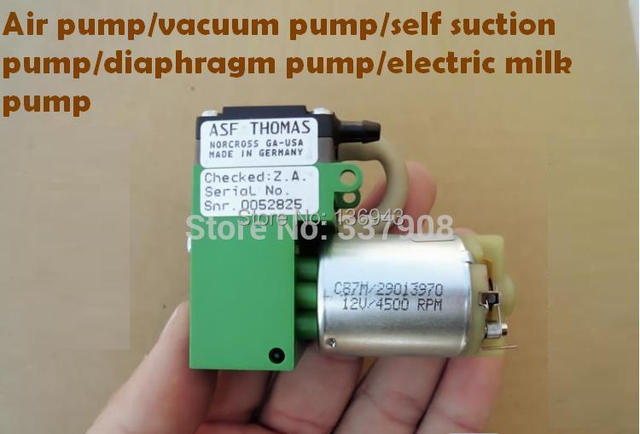 Brand new 2pcs germany asf thomas 12v dc air pump vacuum brand new 2pcs germany asf thomas 12v dc air pump vacuum diaphragm ccuart Gallery
