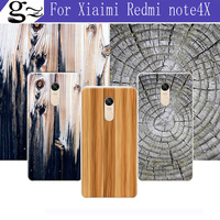 100 Original For Xiaomi Redmi Note4X Soft Case Fashion Wood Stripe Series Painting Back Cover Case
