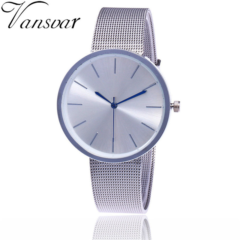 Vansvar Casual Quartz Stainless Steel Band Newv Strap Watch Analog Wrist Watch relojes mujer 2017 Bayan Kol Saati Fashion saat relojes mujer 2017 fashion women casual geneva roman leather band analog quartz wrist watch hot sale bayan saat relogio feminino