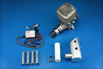 DLE55 Twin Gas Engine Rear Exhaust Gasoline w/Ignition & Muffler For 55cc RC Airplane