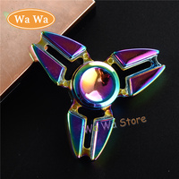 Rainbow 2 Colors Hand Spinners Triangle Gyro Anti Stress Sensory Spinner Hand High Quality Adult Toys