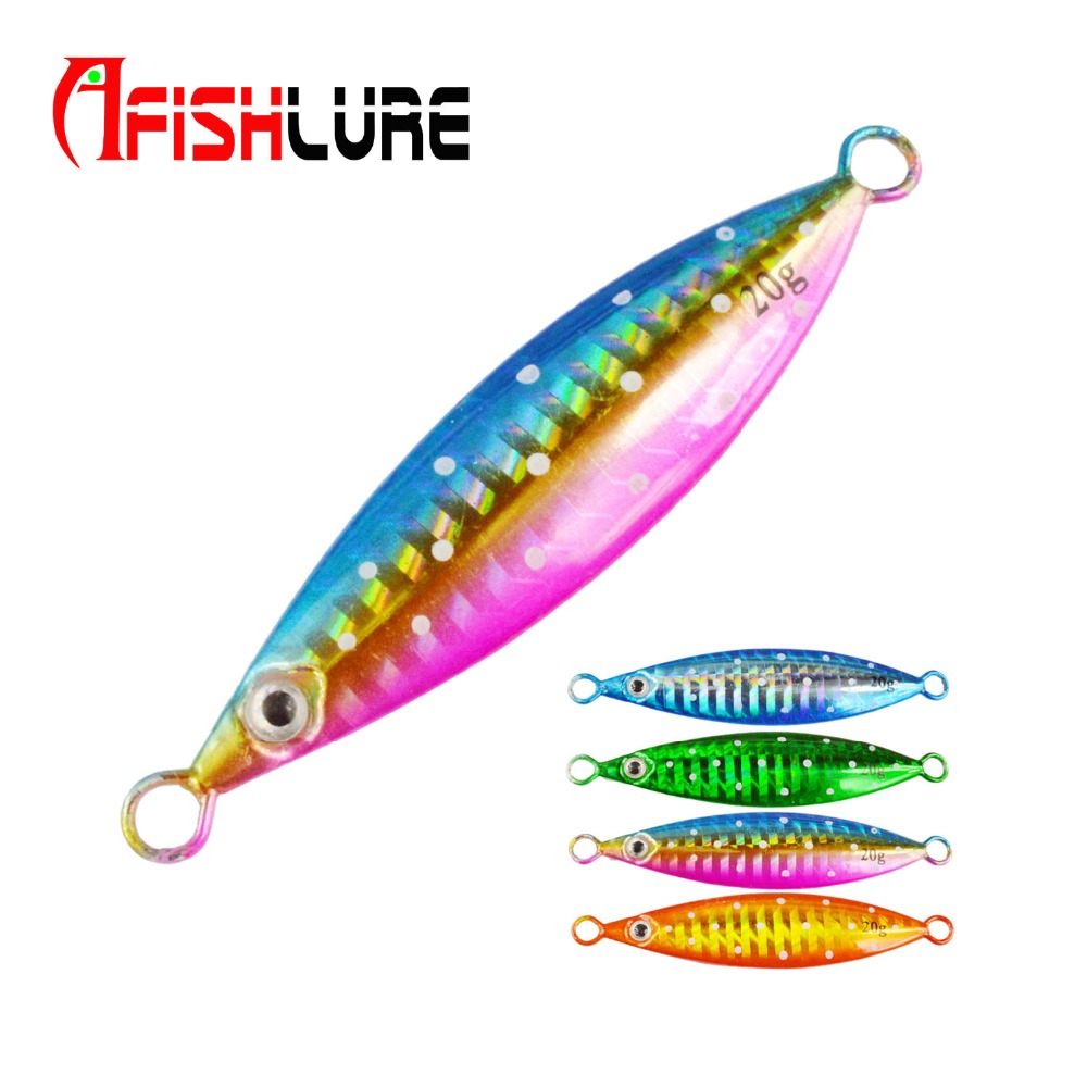 Afishlure Metal Jigging Spoon 20g/40g/60g/80g/100g/150g/200g Metal Jigging Lures Lead Jig Slow Sinking Hard Bait Boat Fishing slow jig lead fish lure 40g metal jigs 7cm slow jigging lures 8 color 1pcs lot salt water fishing lures