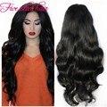 2016 año nuevo Sale 150% densidad peluca llena Glueless brasileño de la virgen del pelo humano onduladas largas pelucas delanteras del cordón negro women