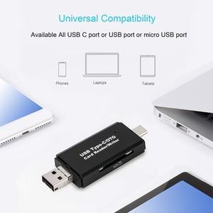 Image 3 - Lector de tarjetas SD USB 3,0 lector de tarjetas USB C 3,0/2,0 TF/Micro SD tarjeta de memoria inteligente lector tipo C OTG adaptador de lector de tarjetas