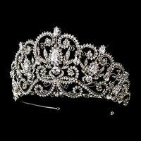 2017 New European Hot nupcial accesorios accesorios para el cabello de la corona imperial corona de joyas con incrustaciones de cristal Austriaco