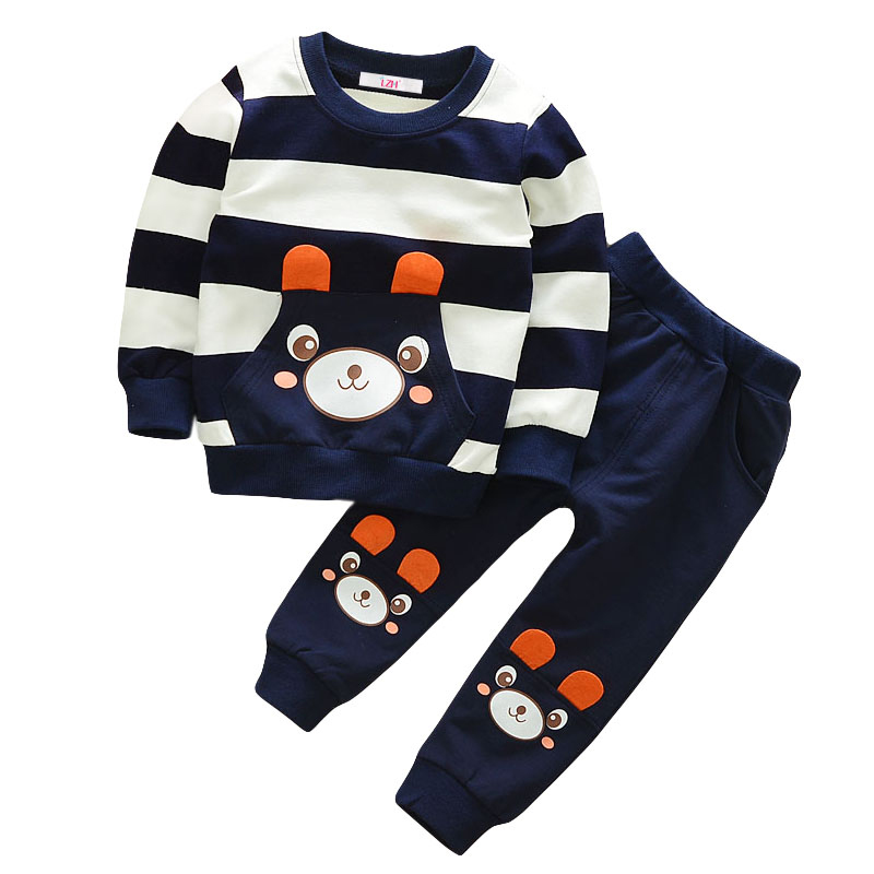 2018 Autumn Toddler Baby Boys Girls Clothes Tshirt+Pants 2pc Clothes Sport Kids Suit For Boys Children Clothing Sets 2 3 4 Years