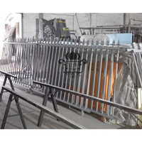 HENCH Garden Fence 8'x5' Black Mordern Style Ornamental Iron Wrought Hc f13